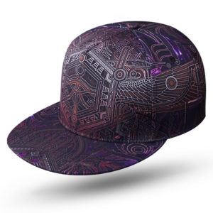 Kemetic Science Egyptian Eye of Horus purple wings Snapback cap