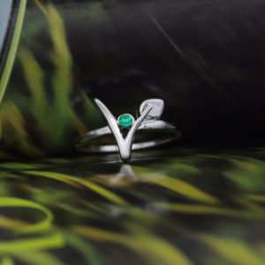Emerald Vegan Ring