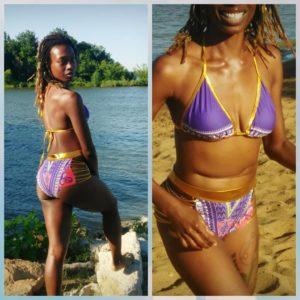 Egyptian African Dashiki Bikini Swimsuit