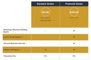 Vendor Plan Comparison