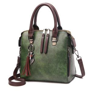 World Messenger Leather Handbag