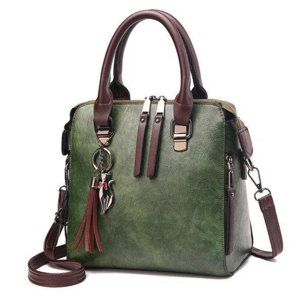 World Messenger Leather Handbag