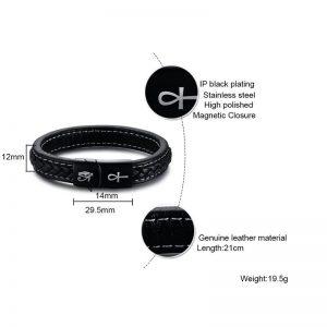 Eye of Horus Ankh Genuine Leather Bracelet